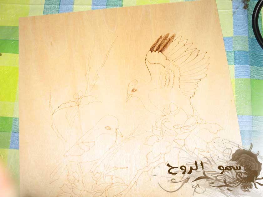 رسمتين بالحرق على الخشب بالخطوات Img_6611