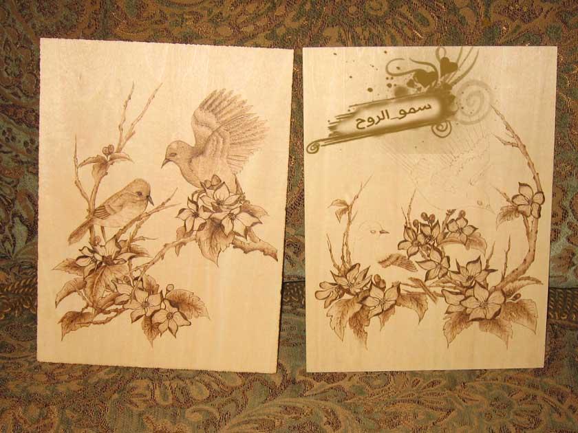 رسمتين بالحرق على الخشب بالخطوات Img_6714