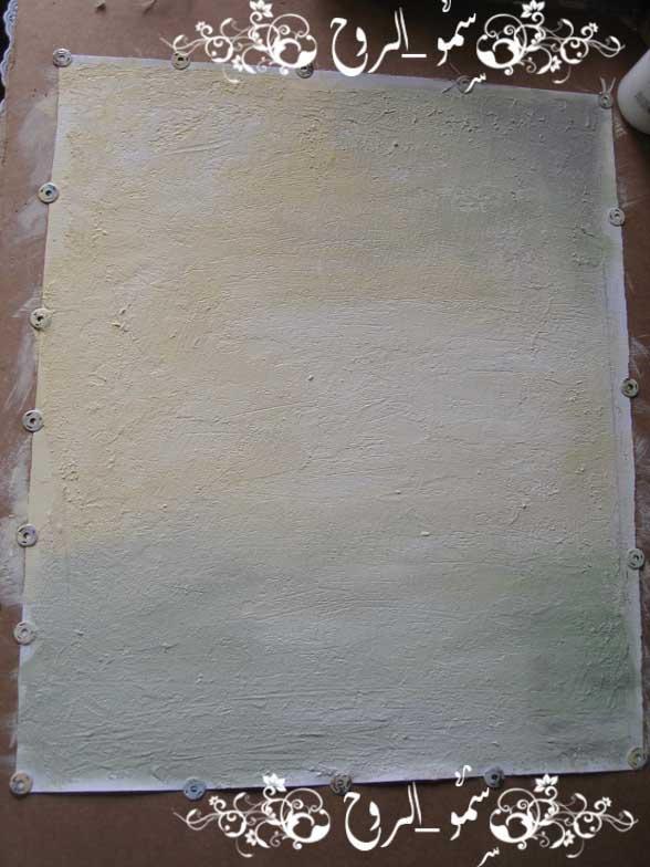 رسمتي الجديدة بالوان الاكريليك ومعجون الرمل بالخطوات اكيد Img_6814