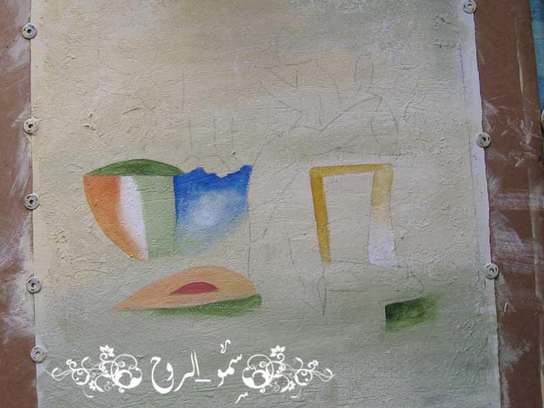 رسمتي الجديدة بالوان الاكريليك ومعجون الرمل بالخطوات اكيد Img_6817