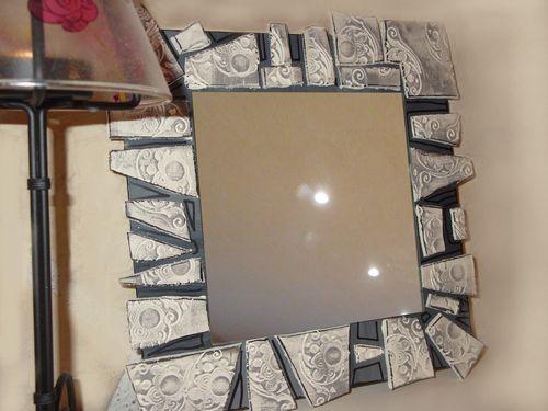 مرايا جدارية بالمعجون والنحت Miroir10