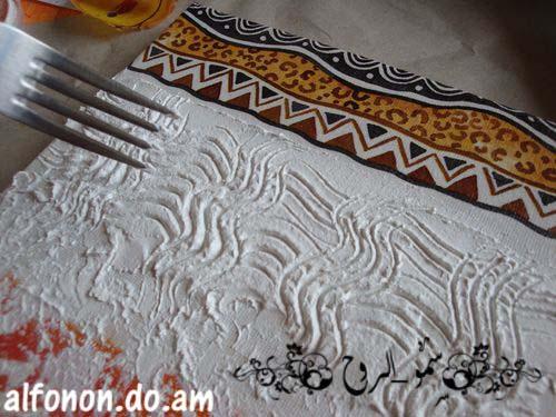 لوحة افريقية بالديكوباج والمعجون والخطوات اكيد باللصور Tmp_et25