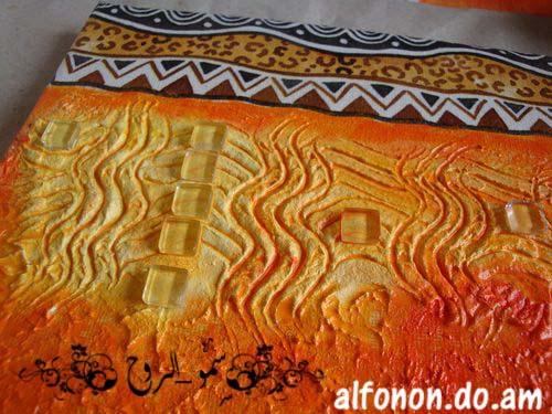 لوحة افريقية بالديكوباج والمعجون والخطوات اكيد باللصور Tmp_et28